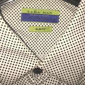 Zara Man Slip Fit Long Sleeve Shirt